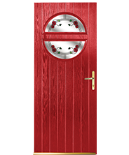 Skipton Red Mac Rose Solid Style Door
